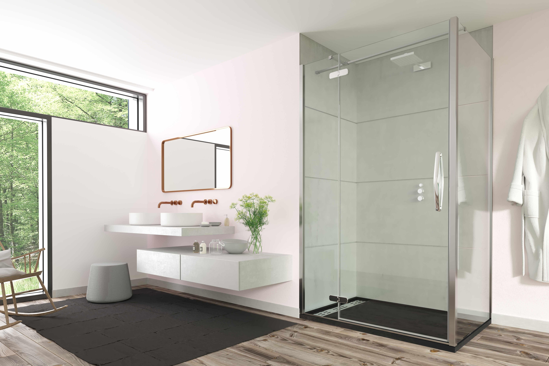Oro hinge & Inline shower door – PH Ross | Bathroom & Tile Showroom